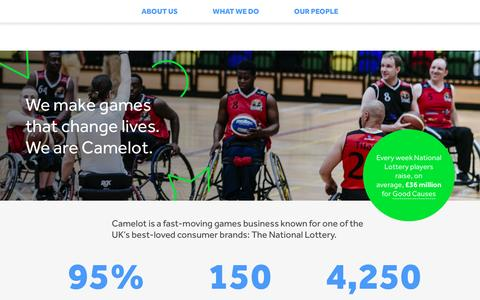 Screenshot of Home Page camelotgroup.co.uk - Home - Camelot Group - captured Aug. 30, 2016