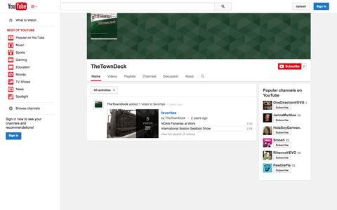 Screenshot of YouTube Page youtube.com - TheTownDock  - YouTube - captured Oct. 25, 2014