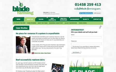 Screenshot of Case Studies Page blade-farming.com - Aberdeen Angus Beef Finishing Scheme | Case Study - captured July 7, 2017