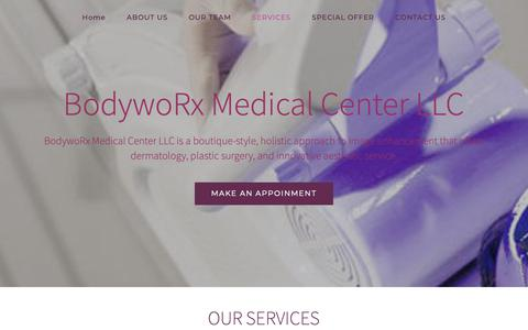 Screenshot of Services Page bodyworx.ae - SERVICES - Bodyworx - captured Dec. 18, 2018