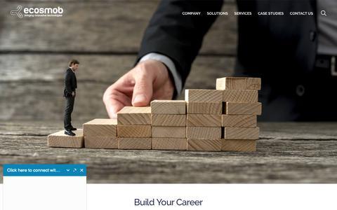 Screenshot of Jobs Page ecosmob.com - Career - Ecosmob Technologies Pvt. Ltd - captured Sept. 27, 2018