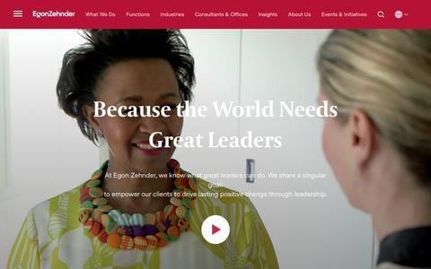 Executive Recruitment & Global Management Consulting - Egon Zehnder