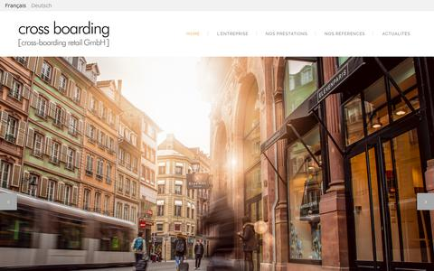 Screenshot of Home Page cross-boarding.com - Cross Boarding | Cross boarding : Conseiller immobilier et retail France Allemagne - captured July 14, 2018