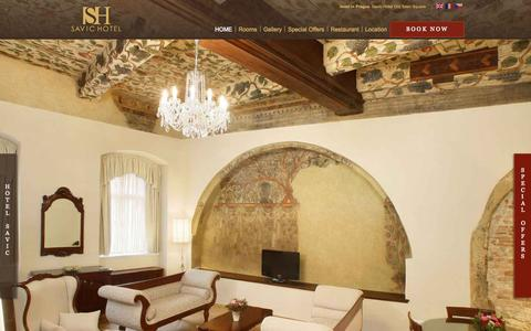 Screenshot of Home Page savic.eu - Savic Hotel  in Prague - Book a  hotel Old Town Square - captured Sept. 17, 2015