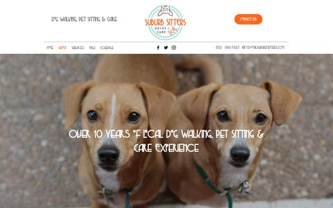 Screenshot of About Page Contact Page yoursuburbsitters.com - About | Dog Walking, Pet Sitting & Care | Cypress, Texas - captured Oct. 19, 2018