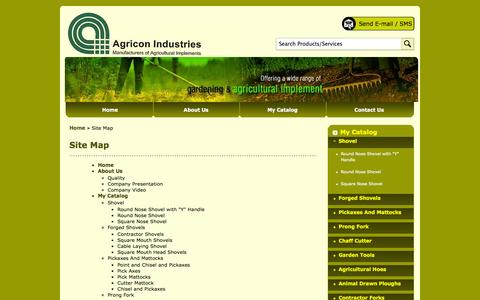 Screenshot of Site Map Page agriconindustries.net - Site Map - Agricon Industries - captured Oct. 4, 2014