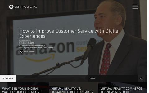 Screenshot of Blog centricdigital.com - Business Transformation Blog | Digital Trends & Market Size - captured Feb. 21, 2016