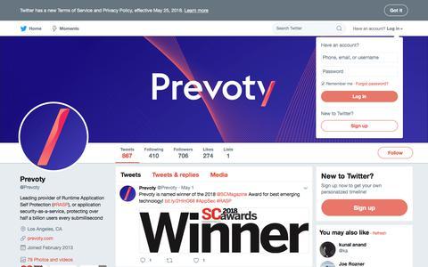 Prevoty (@Prevoty)   Twitter