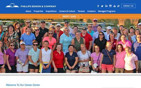 Screenshot of Jobs Page phillipsedison.com - Careers | Phillips Edison & Company - captured Sept. 6, 2018