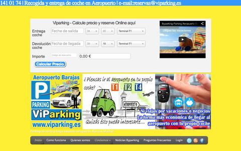 Screenshot of Home Page byparking.es - Parking subterráneo Aeropuerto Barajas low cost - captured Jan. 7, 2016