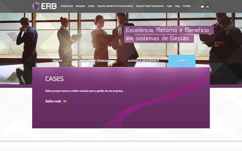 Screenshot of Home Page erb.com.br - ERB Sistemas de Gestão - captured Jan. 23, 2016