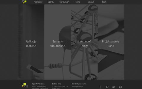 Screenshot of Home Page open-rnd.pl - Open-RnD - Open Research and Development - captured Sept. 30, 2014