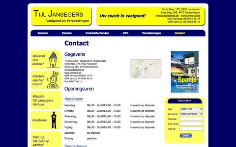 Screenshot of Contact Page immotijl.be - Immotijl - Contact - captured Oct. 6, 2014
