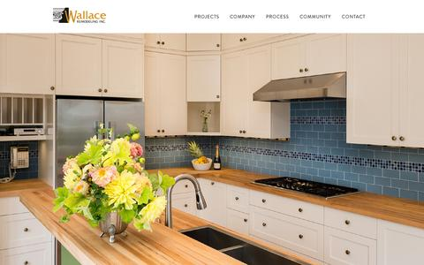 Screenshot of Home Page wallaceremodeling.com - Wallace Remodeling ‹ Just another WordPress siteWallace Remodeling - captured Oct. 7, 2014