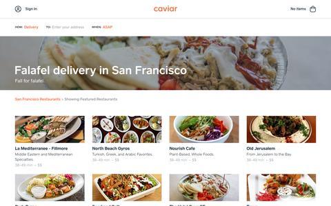 Falafel delivery in San Francisco | Caviar