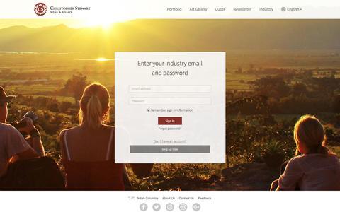 Screenshot of Login Page christopherstewart.com - Sign In - captured Nov. 5, 2016