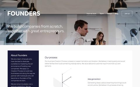 Screenshot of Home Page founders.as - How we work - Founders.as - captured Sept. 24, 2014