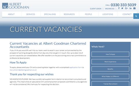 Current Vacancies - Albert Goodman - Chartered Accountants