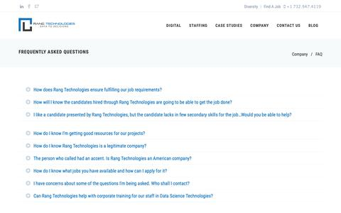 Screenshot of FAQ Page rangtech.com - Frequently Asked Questions | Rang Technologies - captured Oct. 20, 2018