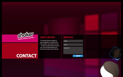 Screenshot of Contact Page atshaker.com - Shaker - Contact Us - captured Sept. 17, 2014