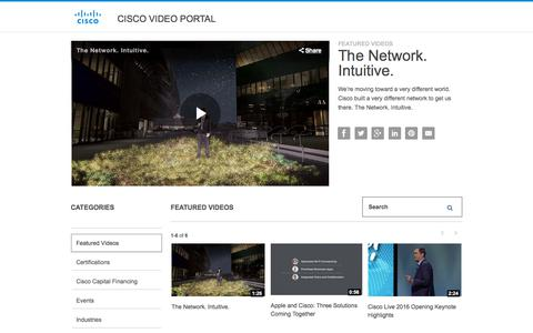 Screenshot of Products Page Services Page cisco.com - Cisco Video Portal - captured Aug. 5, 2017