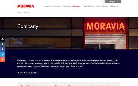 Company - Moravia