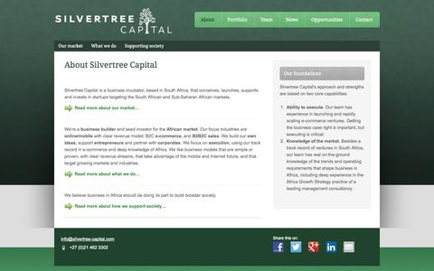 Screenshot of About Page silvertree-capital.com - About Silvertree Capital - captured Oct. 26, 2014