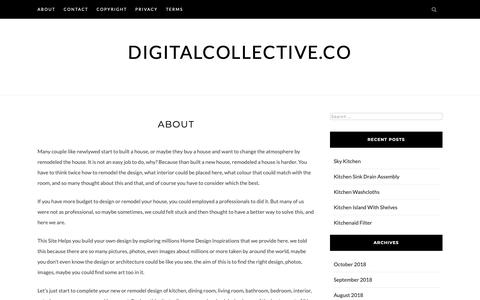 Screenshot of About Page digitalcollective.co - about – digitalcollective.co - captured Oct. 9, 2018