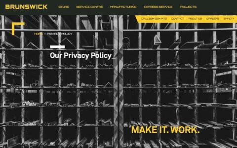 Screenshot of Privacy Page brunswicksteel.com - Privacy Policy - Brunswick Steel - captured June 3, 2017
