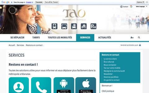 Screenshot of Services Page reseau-tao.fr - Services | Tao - captured Oct. 26, 2018