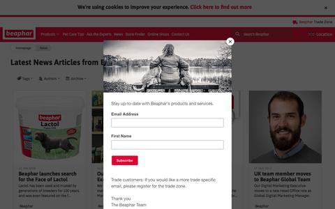 Screenshot of Press Page beaphar.com - Beaphar News - captured Feb. 10, 2018
