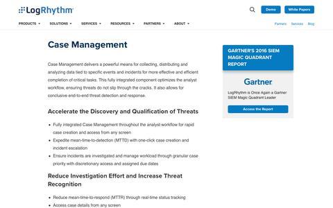 Case Management | LogRhythm