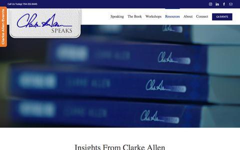 Screenshot of Blog clarkeallen.com - The Clarke Allen blog – Clarke Allen Speaks - captured July 18, 2018