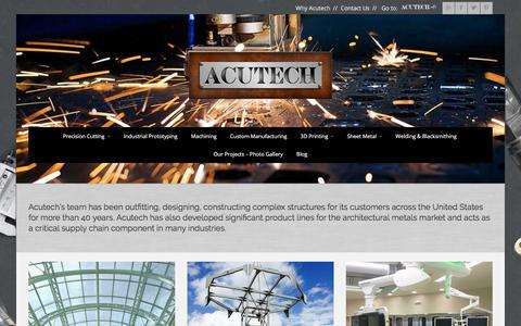 Screenshot of Home Page acutechworks.com - Acutech Works | Welding Shop | Precision CNC Machining | Metal Fabrication - captured Oct. 7, 2017