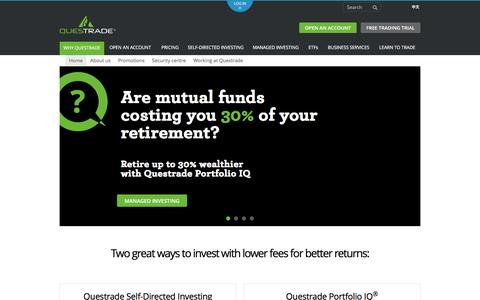 Keep more of your money | Questrade