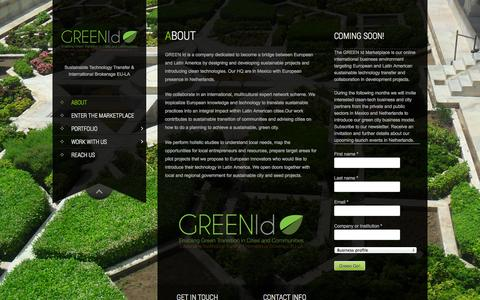 Screenshot of About Page green-id.eu - About | GREEN Id - captured Oct. 1, 2014
