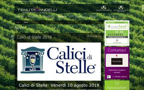 Screenshot of Press Page tenutavandelli.it - News - captured Sept. 20, 2018