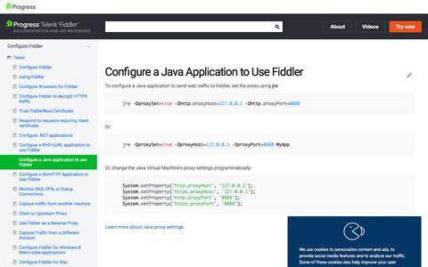 Configure a Java application to use Fiddler | Progress Telerik Fiddler Documentation