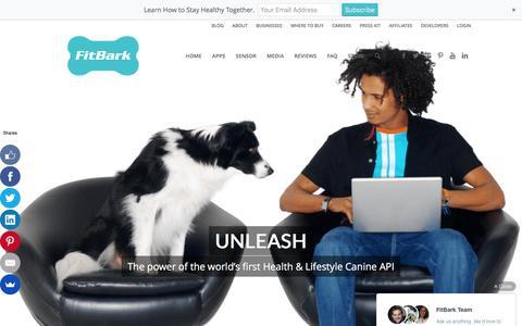 Screenshot of Developers Page fitbark.com - FitBark     Developers - captured Dec. 4, 2015