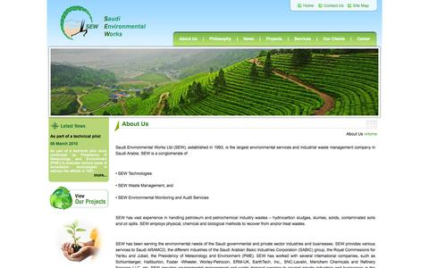 Screenshot of About Page sewltd.com.sa - Welcome To Saudi Environmental Works - captured Oct. 6, 2014