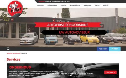 Screenshot of Services Page autofitschoormans.nl - » Services - captured Feb. 6, 2016