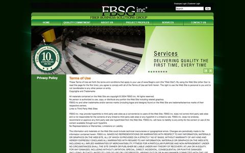 Screenshot of Privacy Page fbsginc.com - FBSG Inc. - Services - captured Sept. 30, 2014
