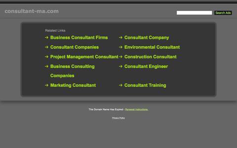 Screenshot of Home Page consultant-ma.com - Consultant-Ma.com - captured Jan. 16, 2016