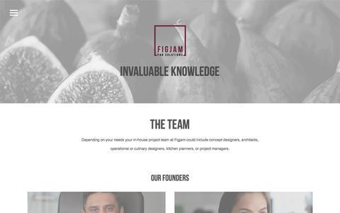 Screenshot of Team Page figjamco.com - The Team – Figjam - captured Oct. 13, 2017