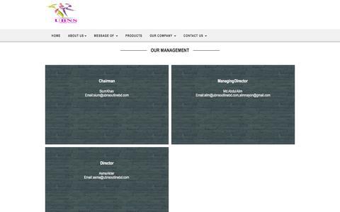 Screenshot of Team Page ubnsoutlinebd.com - Our Management - captured Nov. 15, 2016