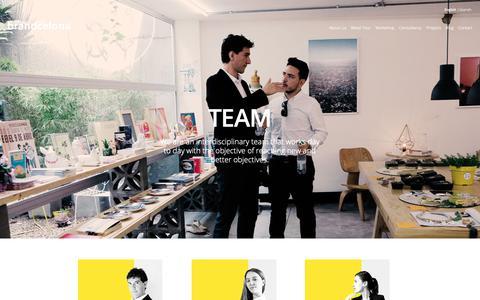 Screenshot of Team Page brandcelona.com - Team - captured Oct. 7, 2018