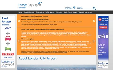 Screenshot of About Page londoncityairport.com - About London City Airport - captured Nov. 3, 2015