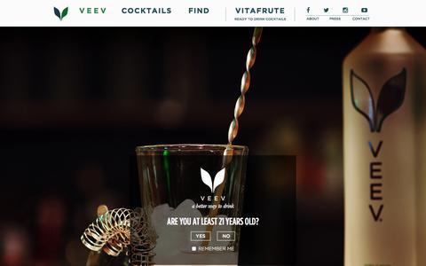Screenshot of Contact Page veevlife.com - VEEV - VitaFrute - captured Oct. 26, 2014