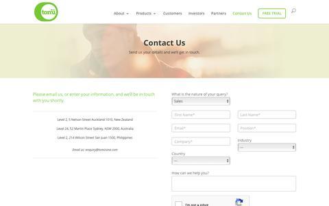 Contact   Tomizone