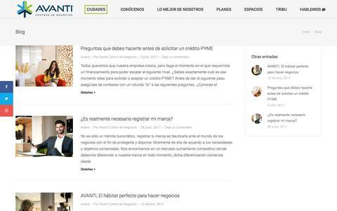 Screenshot of Blog centrosavanti.com - Blog - Centros Avanti - captured Oct. 29, 2017